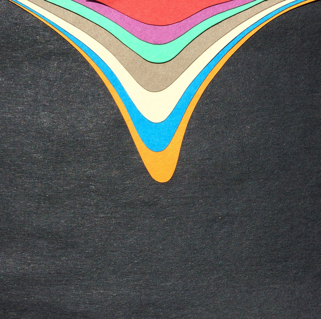 , 'Cut Paper Study (drip),' 2017, BoxHeart