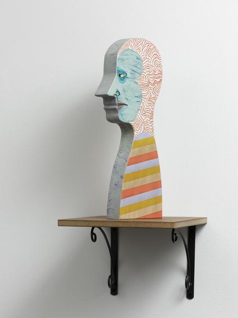 , 'Disaster head with stripes,' 2008, Nils Stærk