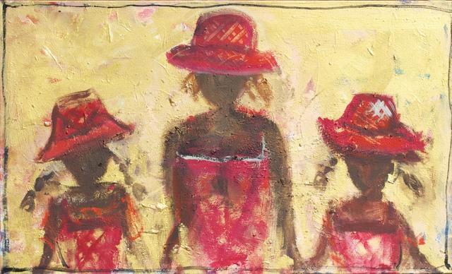 , '3 Red Hats ,' 2014, Wentworth Galleries