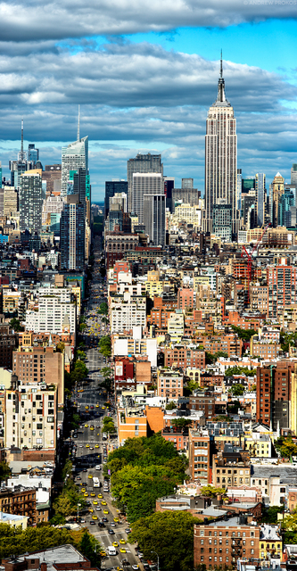 Andrew Prokos, 'Panoramic View of Manhattan from SoHo - Vertical', 2019, Andrew Prokos Gallery