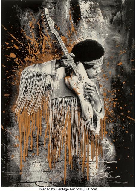 Mr. Brainwash, 'Jimi Hendrix (Gold)', 2015, Heritage Auctions