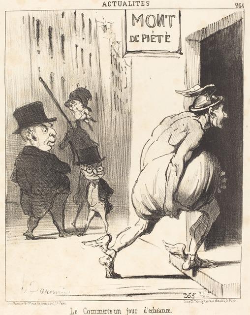 Honoré Daumier, 'Le Commerce un jour d'échéance', 1851, National Gallery of Art, Washington, D.C.