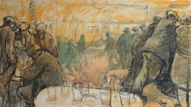 Norman Cornish, 'Crowded bar', ca. 1970, Castlegate House Gallery