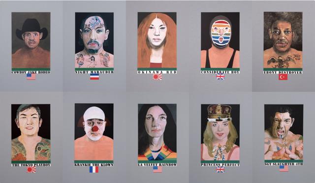 , 'Wrestlers Set,' 2017, Hang-Up Gallery