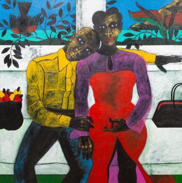 Abe Odedina, 'River deep mountain', 2021, Painting, Acrylic on plywood, Nil Gallery