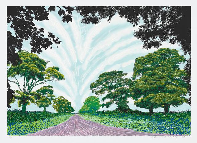 David Hockney, 'Summer Sky', 2008, Phillips