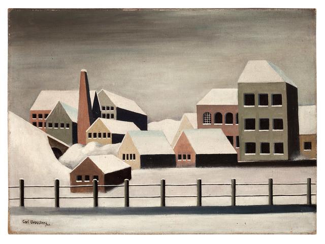 , 'Fabriklandschaft im Schnee,' 1923, Galerie Michael Hasenclever KG