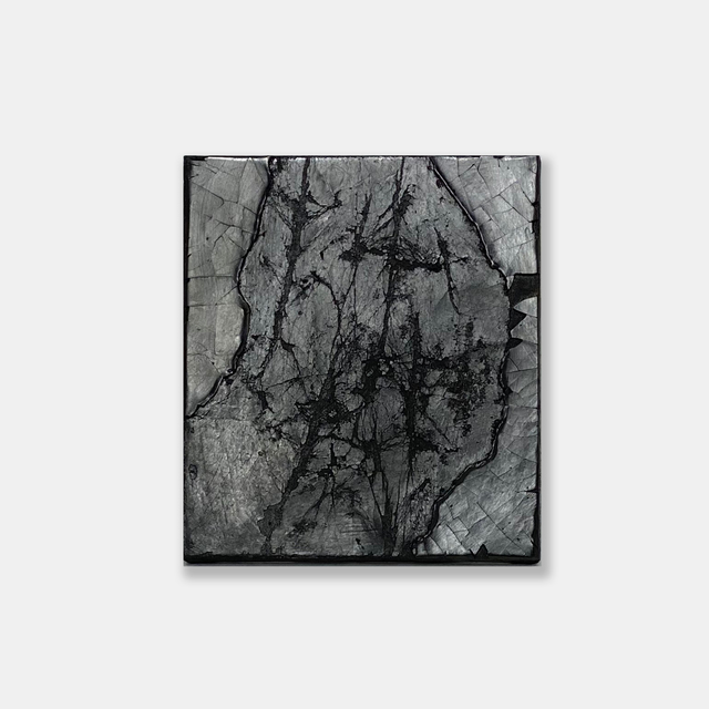 Susan Gunn, 'Fondo Nero IV', 2021, Painting, Ink, earth pigment and organic gesso on fine linen and board, bo.lee gallery
