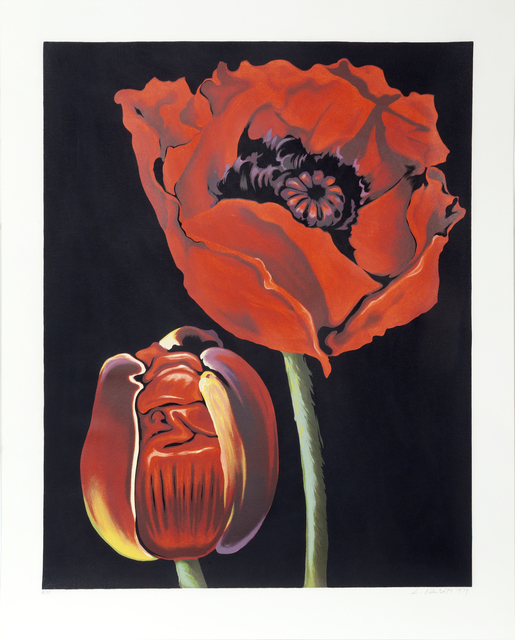 Lowell Nesbitt, 'Red Poppies', 1979, Print, Serigraph, RoGallery