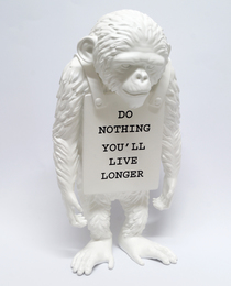 Do Nothing You'll Live Longer (white)