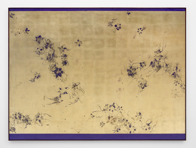 , 'Hair orchid sweat print, deep violet,' 2018, SMAC