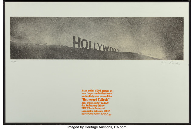 Ed Ruscha, 'Hollywood in the Rain, from Hollywood Collects', 1970, Heritage Auctions