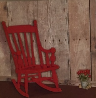 Prime Katharine Owens My Little Red Rocking Chair Available For Sale Artsy Ncnpc Chair Design For Home Ncnpcorg