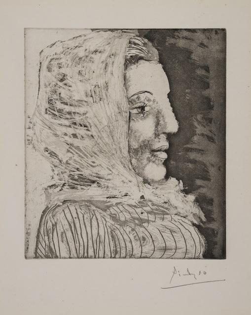 Pablo Picasso, 'Buste de Femme au Fichu (Portrait of Dora Maar) (Baer 672 II C; Bloch 324)', 1939/1960, Print, Drypoint etching with aquatint, Forum Auctions
