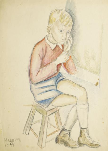 Marie Vorobieff Marevna, 'Portrait of Jean Diego Brusset, 1941, (recto), Portrait of a boy, (verso)', Roseberys