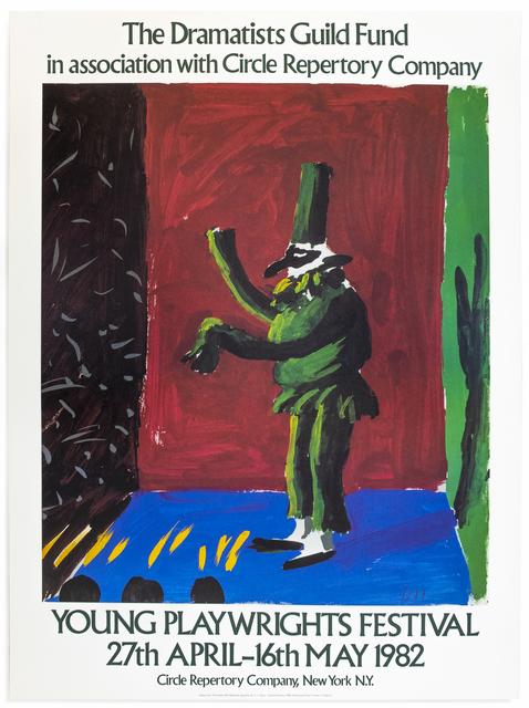 David Hockney, 'Vintage David Hockney poster Young Playwrights Festival 1982', 1982, Petersburg Press