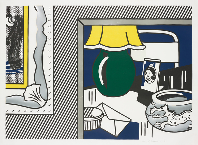 Roy Lichtenstein, 'Two paintings: Green Lamp, from Paintings Series', 1984, Phillips