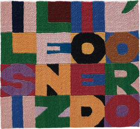 Alighiero e Boetti, 'Il silenzio é d'oro,' 1988, Phillips: 20th Century and Contemporary Art Day Sale (February 2017)