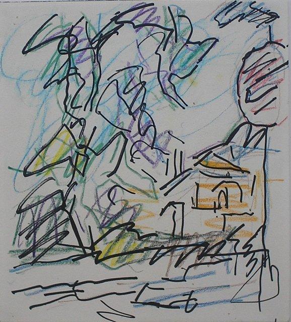 Frank Auerbach, 'Study for Park Village East', 2005, Nicholas Gallery