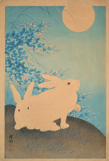 , 'Two Rabbits and Full Moon,' ca. 1930, Ronin Gallery