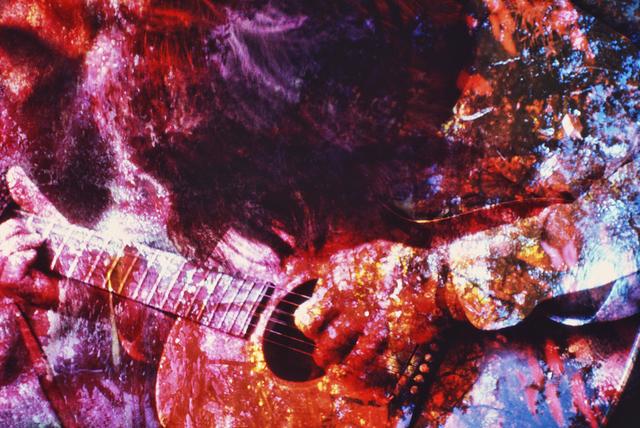 Mitchell Funk, 'Psychedelic Hippie Guitar Player Washington Square Park', 1970, Robert Funk Fine Art