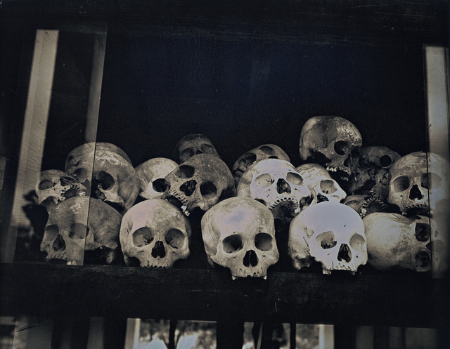 , 'Skulls at Choeung Ek Genocidal Center,' 2017, Lisa Sette Gallery