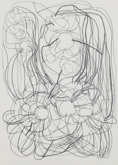 Atsuko Tanaka, 'May-23', Undated, Drawing, Collage or other Work on Paper, Pencil on paper, Whitestone Gallery