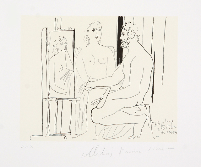 Pablo Picasso, 'Le Peintre et son Modèle, 1930', 1979-1982, Print, Lithograph on Arches paper, RoGallery