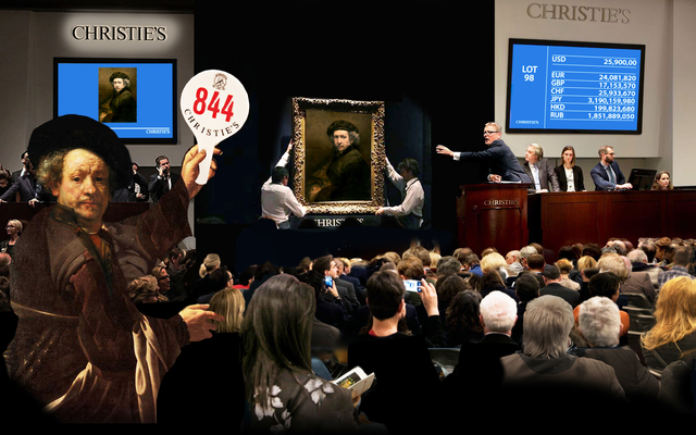 , 'Rembrandt Bidding,' 2019, Kantor Gallery
