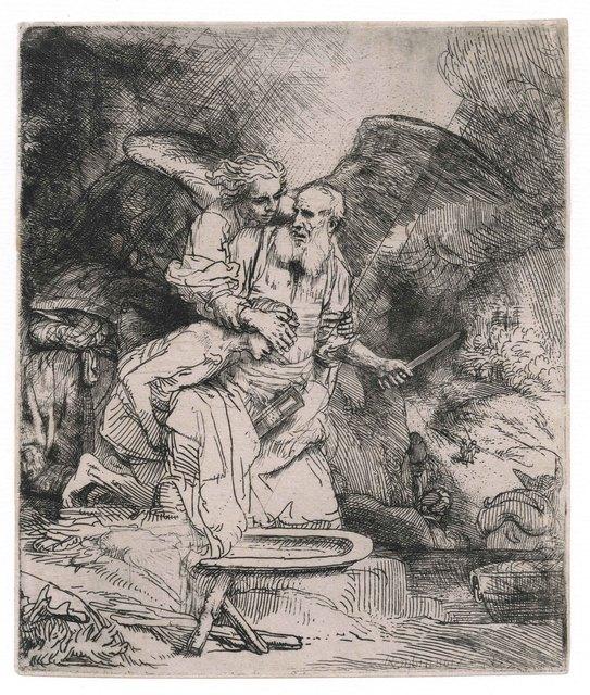 , 'Abraham's Sacrifice,' 1655, August Laube Buch & Kunstantiquariat