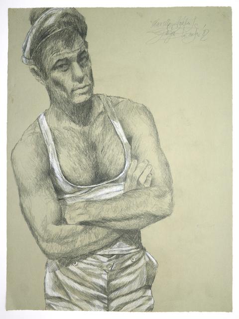 ", 'Matrose Brad Davis (""Querelle""-Zyklus),' 1982, Galerie Kornfeld"