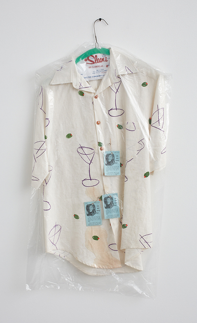 ", 'Martini Shirt (Sloan's Dry Cleaners and Laundry: ""Clean and Fresh"")2,' 2015, David Kordansky Gallery"