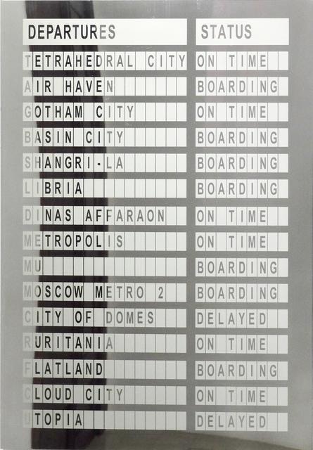 , 'Departures,' 2016, Galeria Horrach Moya