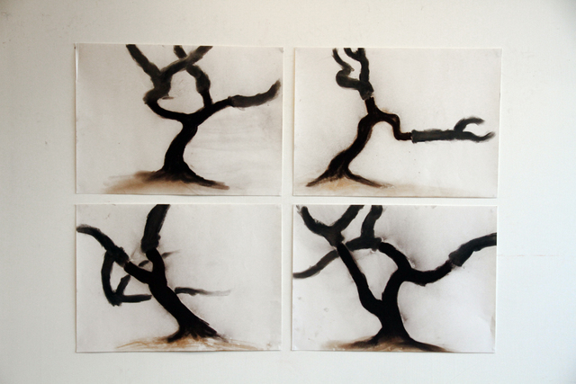 , 'Four Cork Oaks,' 2011, Annely Juda Fine Art