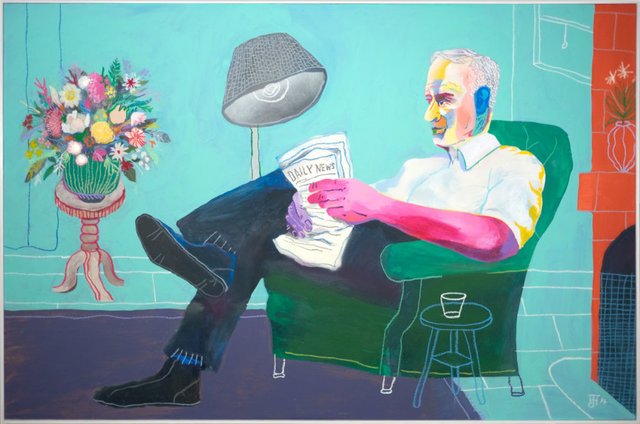 , 'Reader Dude,' 2017, Rebecca Hossack Art Gallery
