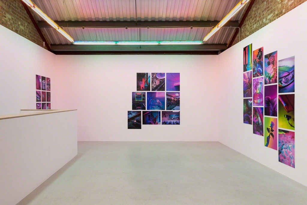 Installation view, Signe Pierce 'Faux Realities' at Annka Kultys Gallery, London, 2017 Photo: Annka Kultys Gallery (Damian Griffiths)