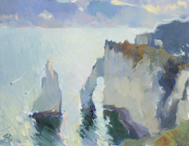 , 'Sunrise at Étretat,' , Jonathan Cooper