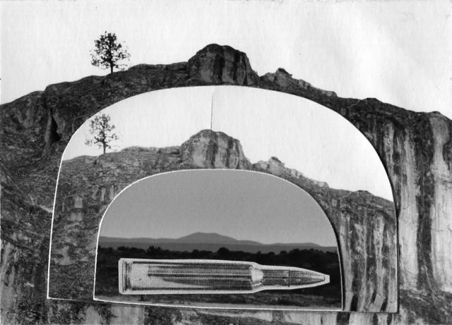 , 'Gun in Landscape: Butte Landscape,' 1965, Bruce Silverstein Gallery