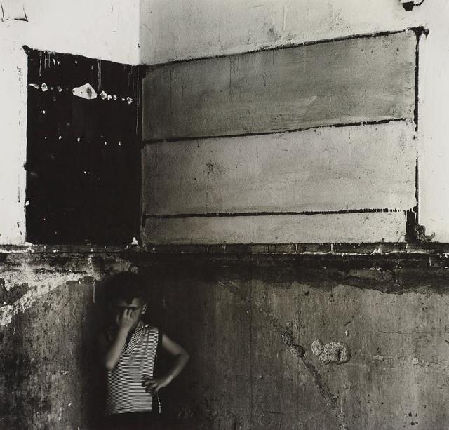 Ralph Eugene Meatyard, 'Untitled (Flag, derelict interior with Christopher)', 1960, Phillips
