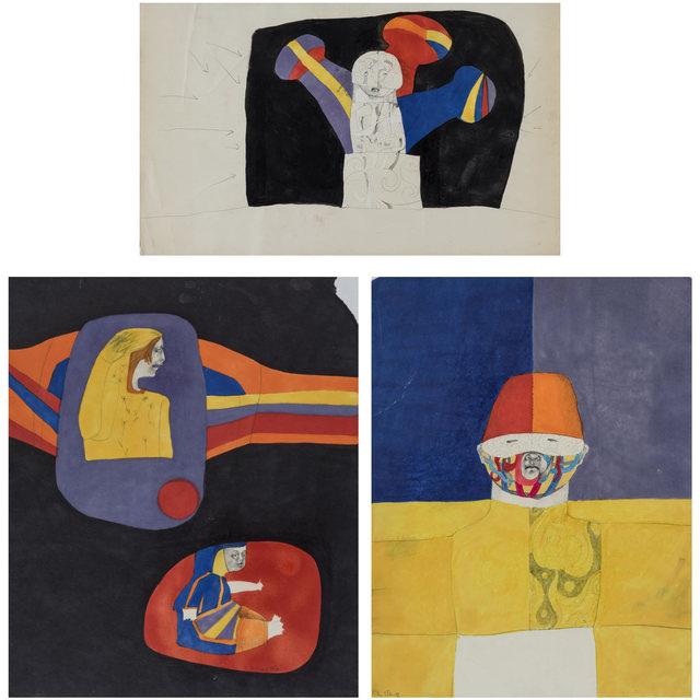 Pat Steir, '(i) Untitled; (ii) Untitled; (iii) Untitled', Doyle