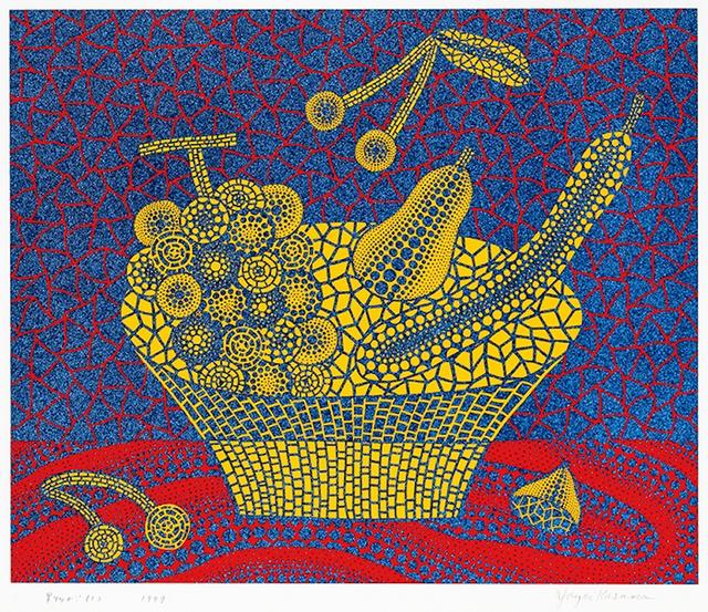 Yayoi Kusama, 'Fruit Basket (1)', 1999, Print, Screenprint in colors with lame, on wove paper, Upsilon Gallery