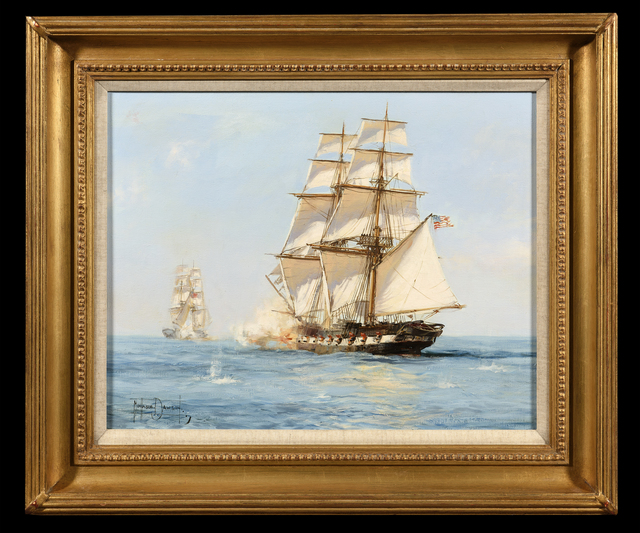 Montague Dawson, 'The American Privateer 'Grand Turk' Capturing the English Brig 'Acorn', March 18, 1815', 1940-1970, Trinity House Paintings