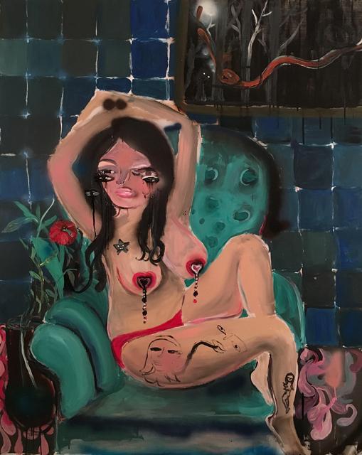 , 'Girl with Vase,' 2016, Burning Giraffe Art Gallery