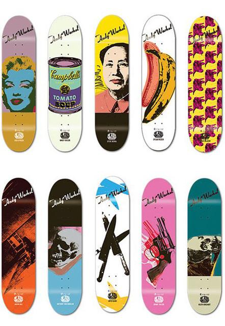 Andy Warhol, 'Skateboard set of 10', 2010, Print, Screenprint on skateboard decks, EHC Fine Art Gallery Auction