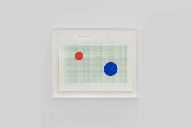 , 'Logarithmic drawing in red and blue, #1,' 2017, Travesia Cuatro
