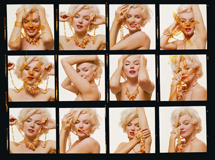 ", 'Marilyn Monroe: From ""The Last Sitting"" (Contact Sheet),' 1962, Staley-Wise Gallery"