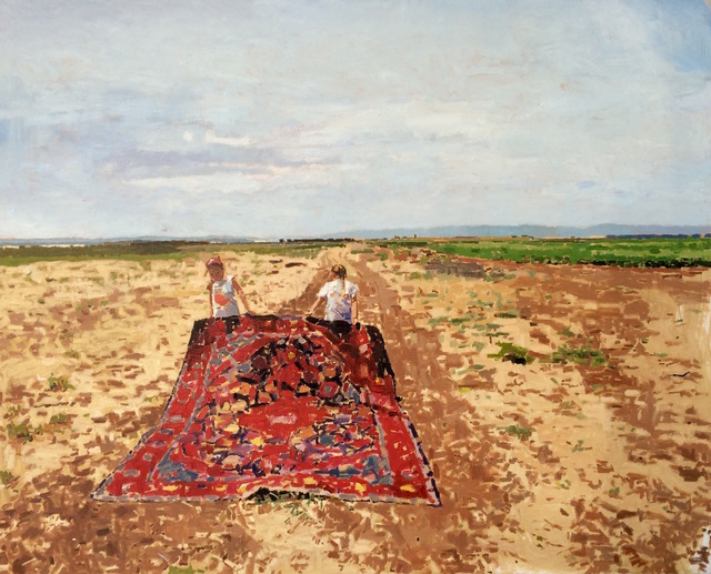, 'Two Girls Holding Carpet,' 2015, Zemack Contemporary Art