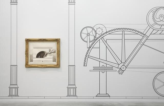 , 'Copeland Spode Porcelain Factory (foreground); 1720 - 1820 (back ground),' 2014, Galleria Franco Noero