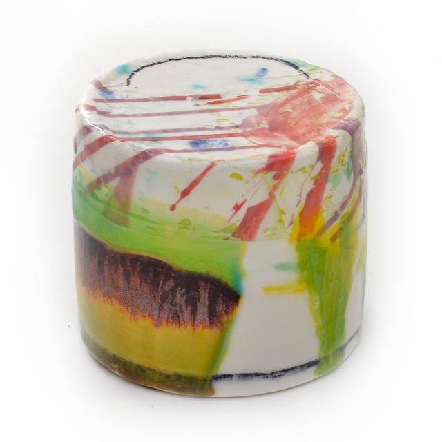 Lauren Mabry, 'Mini Enclosed Cylinder 20.14', 2020, Sculpture, Earthenware, slips, glaze, Pentimenti Gallery