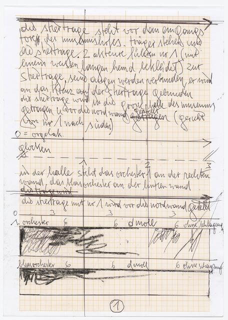 Hermann Nitsch, 'Partitur der 155. Aktion (Aktionssinfonie)', 2018, Galerie Elisabeth & Klaus Thoman